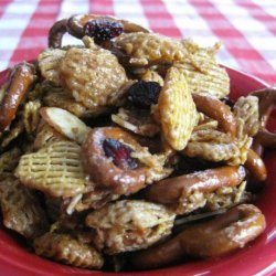 Sweet Party Chex Mix With Berries recipe