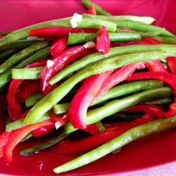 Stir Fried Green Beans and Peppers recipe