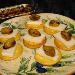 Smoked Oysters and Cheddar on Saltines recipe