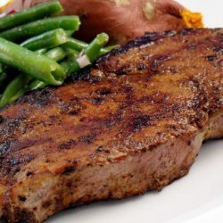 Roadhouse Steaks With Ancho Chile Rub recipe