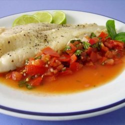 Halibut With Fresh Tomato Sauce recipe