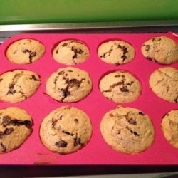 Whole Wheat Banana Chocolate Chip Muffins recipe