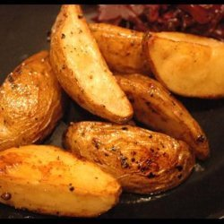 Oven Roasted Balsamic Potato Wedges recipe