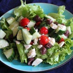 Quick Cucumber, Tomato and Feta Salad recipe