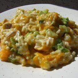 Mom's Cheesy Broccoli Rice Casserole recipe