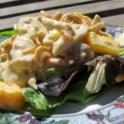 Curried Chicken Salad With Mangoes and Cashews recipe