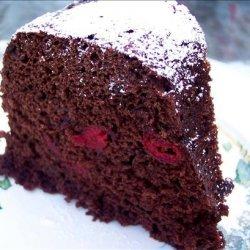 Microwave Chocolate Cherry Snack Cake recipe