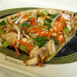 Spicy Thai Chicken Pizza With Peanut Sauce recipe