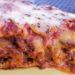 I Hate Ricotta Lasagna W/Meat Sauce and 3 Cheeses recipe