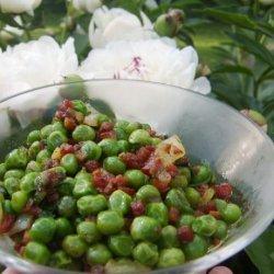 Spring Peas With Pancetta recipe