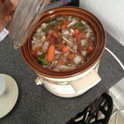 Crock Pot Vegetarian Lentil Soup recipe