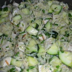 Lemon Orzo Salad With Zucchini And Fresh Herbs recipe