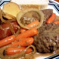 Slow Cooker Swiss Steaks With Beef Gravy, and Potatoes recipe