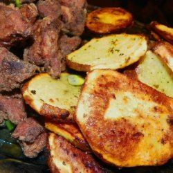 Moroccan Inspired Baked Potato Slices recipe