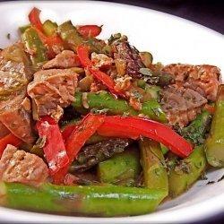 Salmon and Asparagus Stir Fry recipe