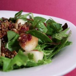 Apple Pecan Salad With Cranberry Vinaigrette recipe
