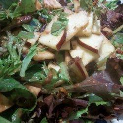 Apple-Walnut Salad With Cranberry Vinaigrette recipe