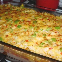 Beef and Potato Nacho Casserole recipe