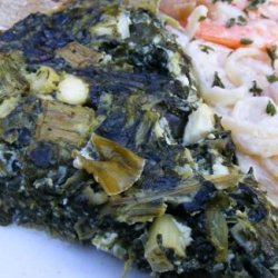 Low Carb Crustless Greek Spinach Pie recipe