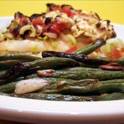 Mediterranean Roasted Green Beans with Slivered Almonds recipe