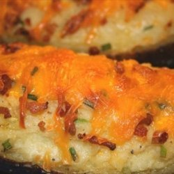 Twice Baked Potatoes With the Works recipe