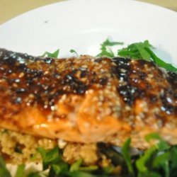 Oven Roasted Salmon With Balsamic Sauce recipe
