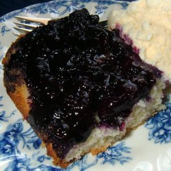 Blueberry Upside Down Cake -- Pouding Aux Bleuets recipe