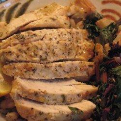 Tuscan Lemon Chicken With Warm Bean Salad recipe