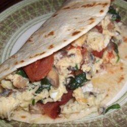 Low Fat Breakfast Wraps recipe