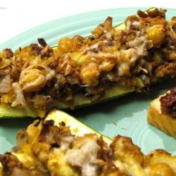 Zucchini With Chickpea and Mushroom Stuffing recipe