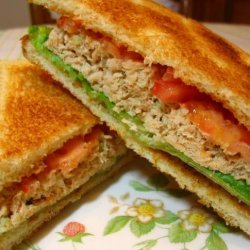 Kittencal's Simple and Delicious Salmon Salad Sandwich recipe
