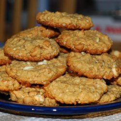 Five (Or Maybe Six) Ingredient Peanut Butter Oatmeal Cookies recipe