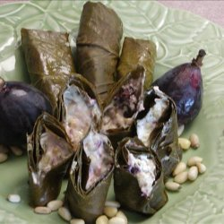 Grape Leaves Stuffed With Goat Cheese & Figs recipe