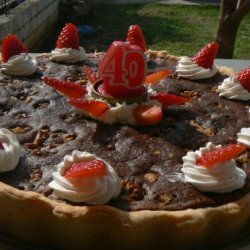 Fudge Walnut Pie recipe