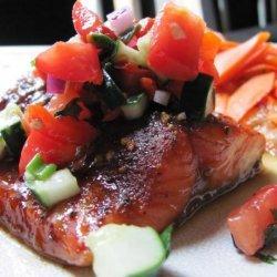 Savory Summer Salmon and Refreshing Relish Recipe recipe