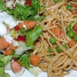 Pasta With Tomato and Peas recipe