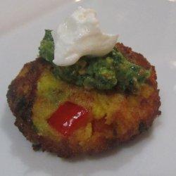 Indian Potato Cakes (Aloo Tikki) With Cilantro Chutney Yogurt recipe