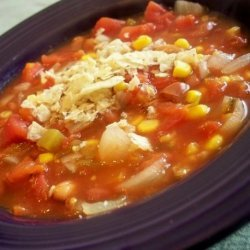 Easy Slow Cooked Vegetarian Taco Soup recipe