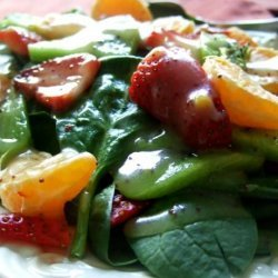 Spinach, Strawberry, Mandarin Salad With Poppy Seed Dressing recipe