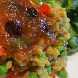Spicy Curried Lentils and Rice recipe