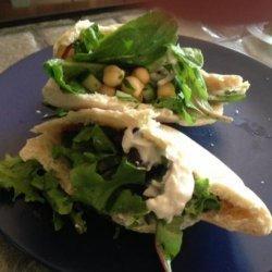 Chickpea Salad on Whole Wheat Pitas recipe