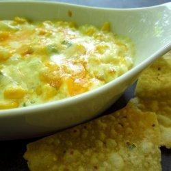 Hot Corn Dip With Crispy Tortilla Chips recipe