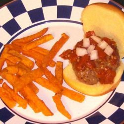 Mini Chipotle Burgers With  Fire Roasted Garlic Catsup recipe