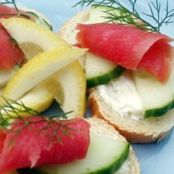 Open-Faced Salmon Tea Sandwiches recipe