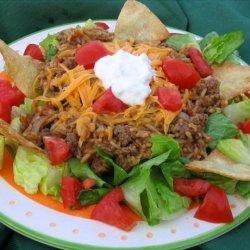 Hot Taco Salad recipe