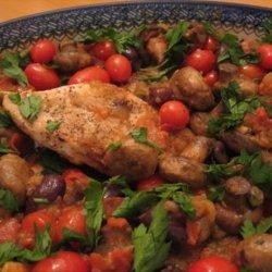 Mediterranean Chicken With Tomatoes, Kalamata and Mushrooms recipe
