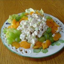 Mandarin Chicken Salad with Orange Juice Dressing recipe