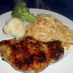 Grilled Pork Chops With Honey Glaze recipe