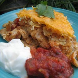 Super Tasty Lite Mexican Chicken Casserole recipe