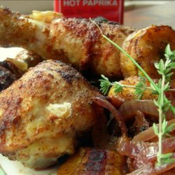Roast Chicken With Plantains and Onions recipe